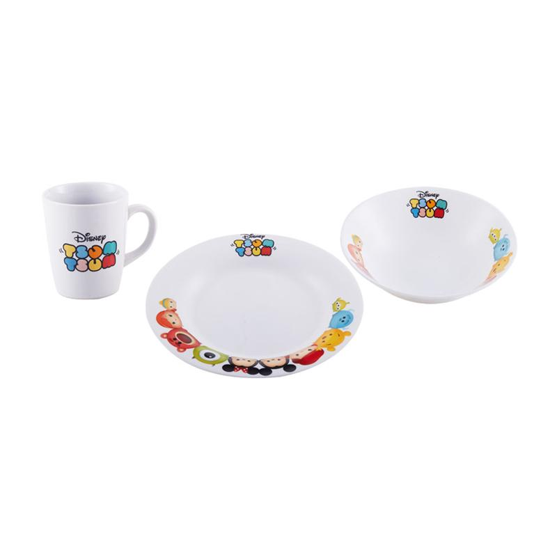 Disney Tsum Tsum Breakfast Set Peralatan Makan 3 pc