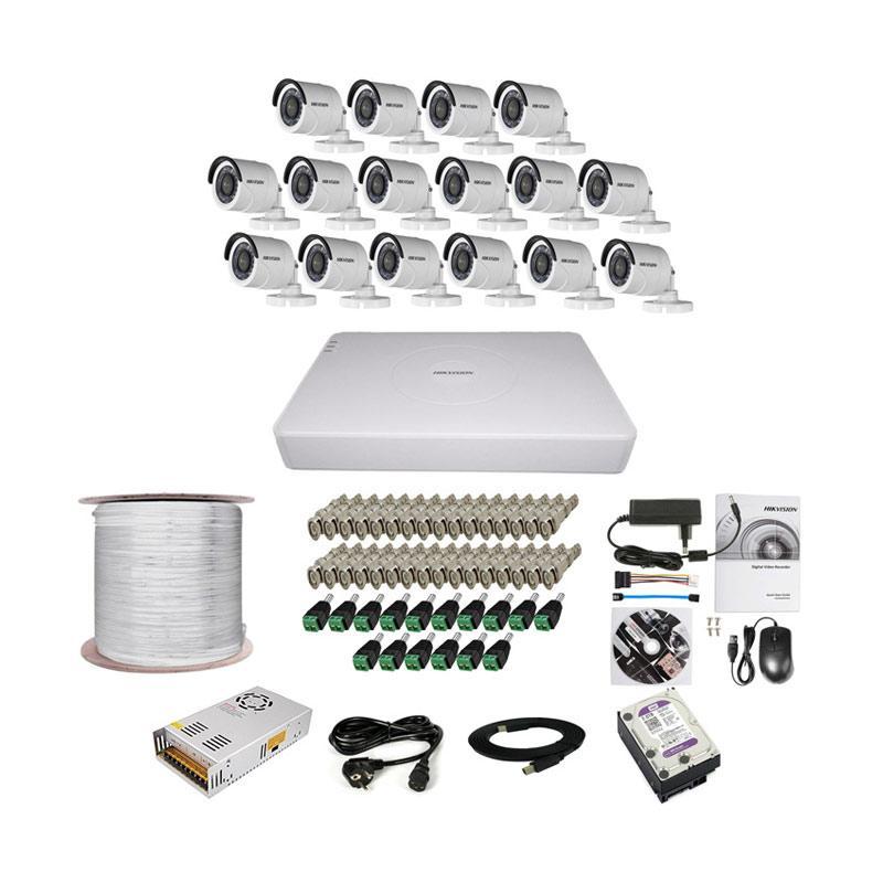 harga Hikvision THD 7116 16CH Outdoor CCTV Paket Lengkap A [2MP/ 2TB/ 300] Blibli.com