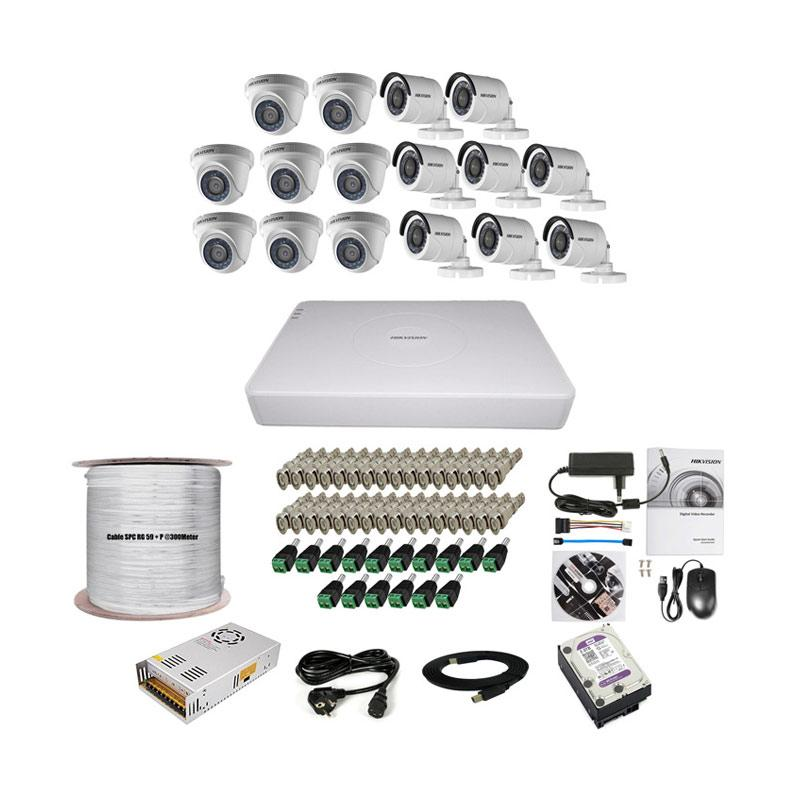 harga Paket Lengkap A CCTV Hikvision THD 7116 16CH 8in + 8out 2MP 2TB @300M Blibli.com