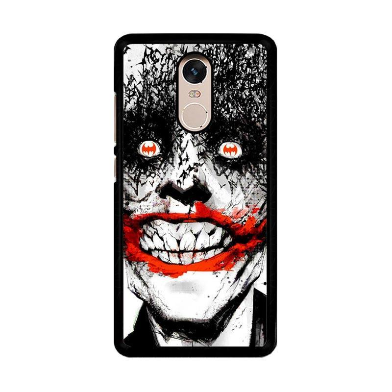 Flazzstore Creepy Smile Face Joker Z0981 Custom Casing for Xiaomi Redmi Note 4 or Note 4X Snapdragon Mediatek