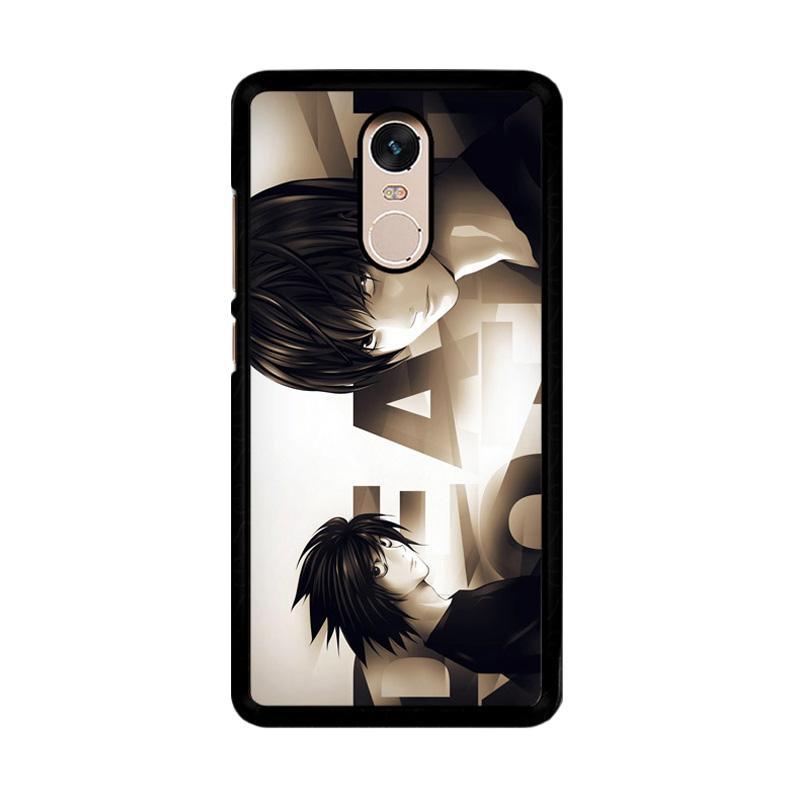 Flazzstore Death Note L Z1216 Custom Casing for Xiaomi Redmi Note 4 or Note 4X Snapdragon Mediatek