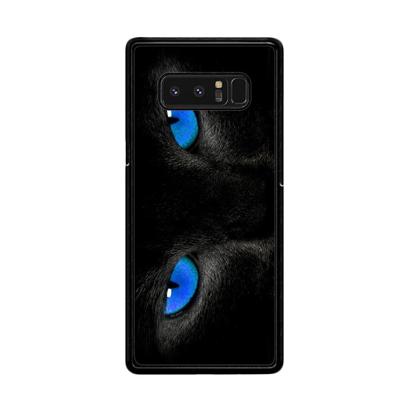Flazzstore Black Cat Eyes Z1119 Custom Casing for Samsung Galaxy Note 8
