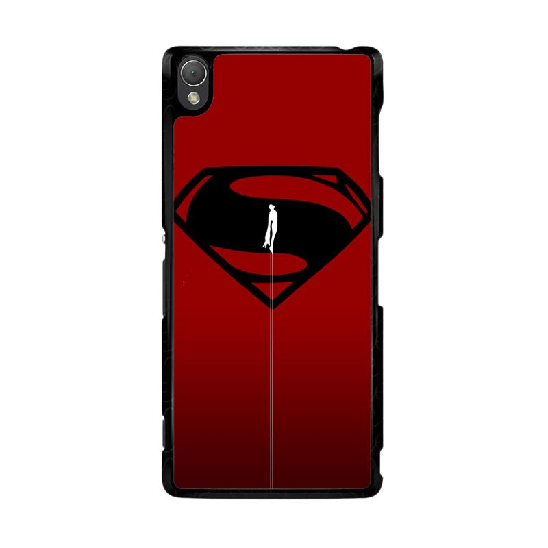Flazzstore Superman Fly O0023 Custom Casing for Sony Xperia Z3