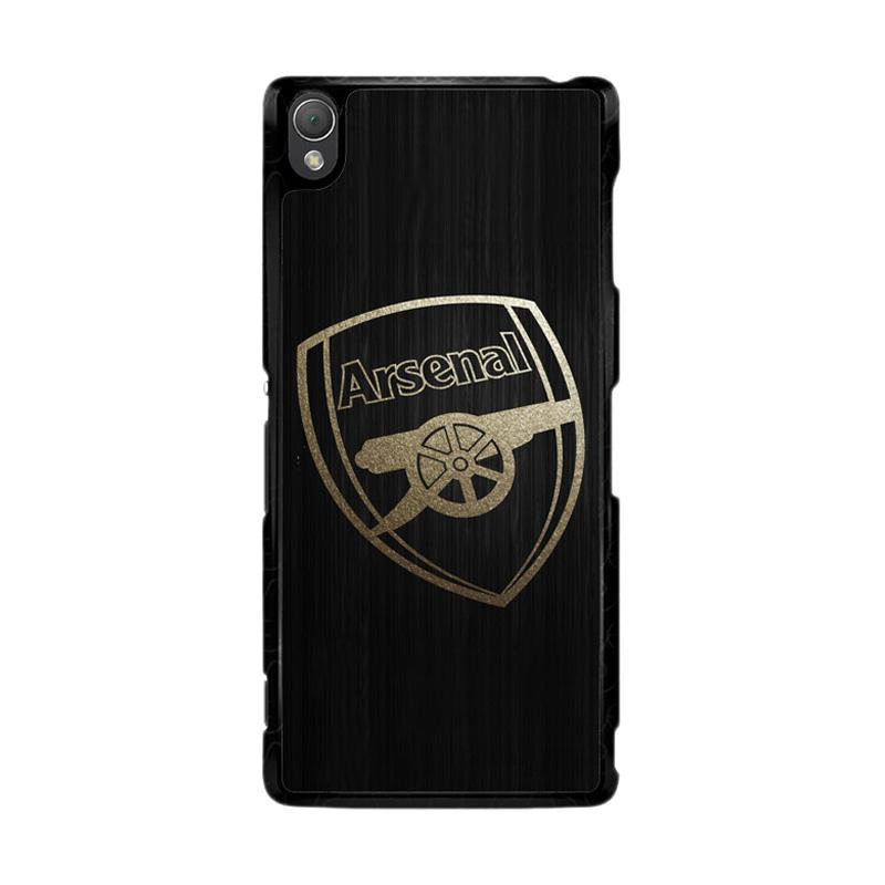 Flazzstore Arsenal Logo Gold O0487 Custom Casing for Sony Xperia Z3
