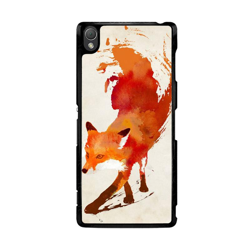 Flazzstore Watercolor Art Orange Red Fox Animal F0246 Custom Casing for Sony Xperia Z3
