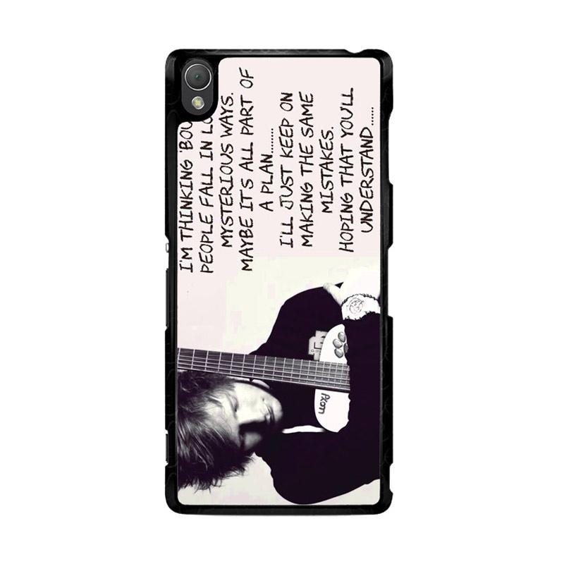 Flazzstore Thinking Out Loud-Ed Sheeran Lyric F0702 Custom Casing for Sony Xperia Z3