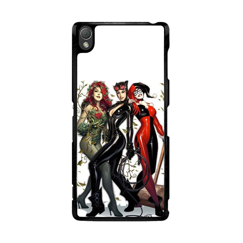 Flazzstore Poison Ivy Harley Quinn,Batgirl And Catwoman Z0225 Custom Casing for Sony Xperia Z3