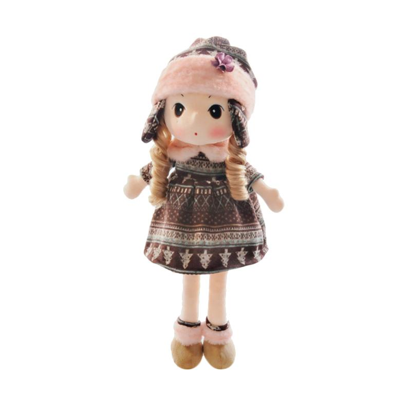 Best Seller Girl Rajut Import Boneka - Coklat