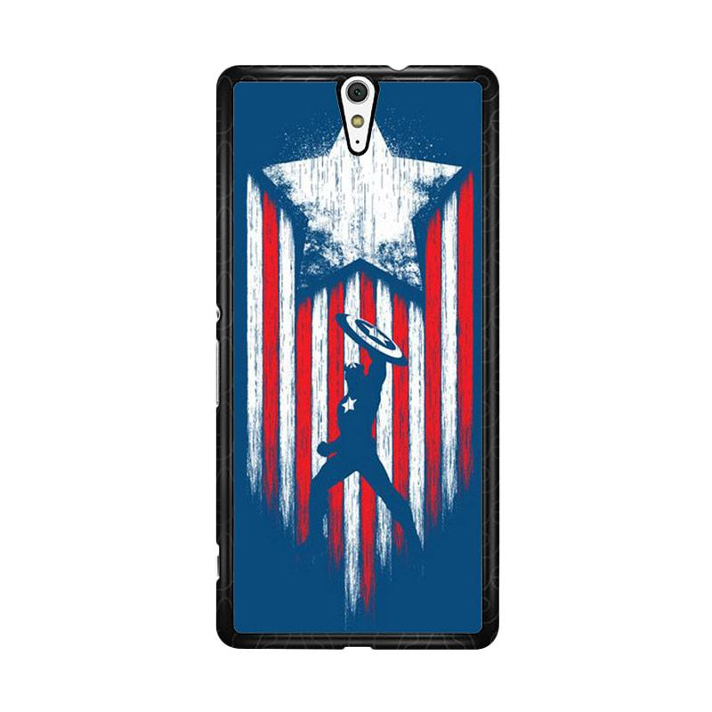 Flazzstore Captain America Blue O0171 Custom Casing for Sony Xperia C5 Ultra