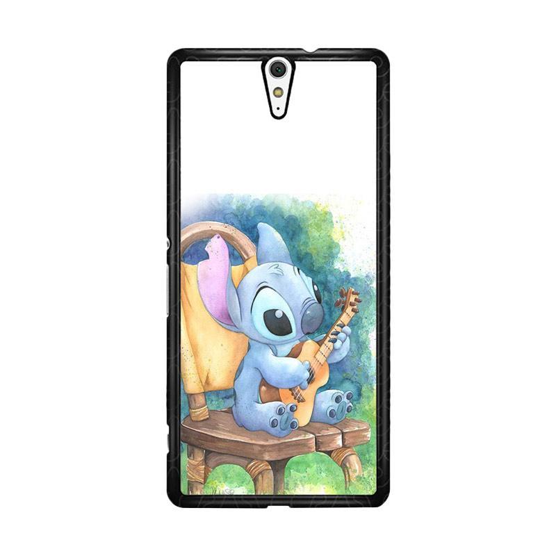 Flazzstore Ukulele Stitch O0414 Custom Casing for Sony Xperia C5 Ultra