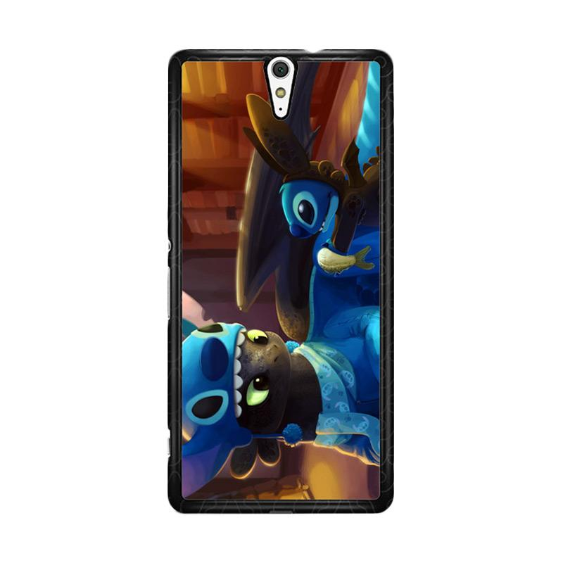 Flazzstore Toothless And Stitch Parody  Z0364 Custom Casing for Sony Xperia C5 Ultra