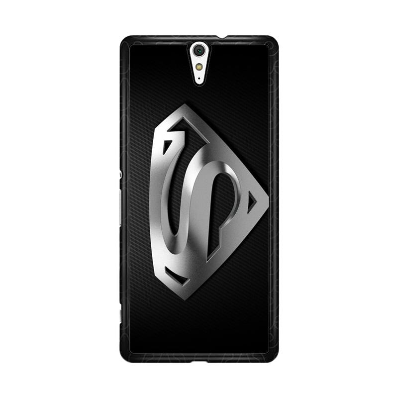 Flazzstore Superman Silver Logo Z1291 Custom Casing for Sony Xperia C5 Ultra