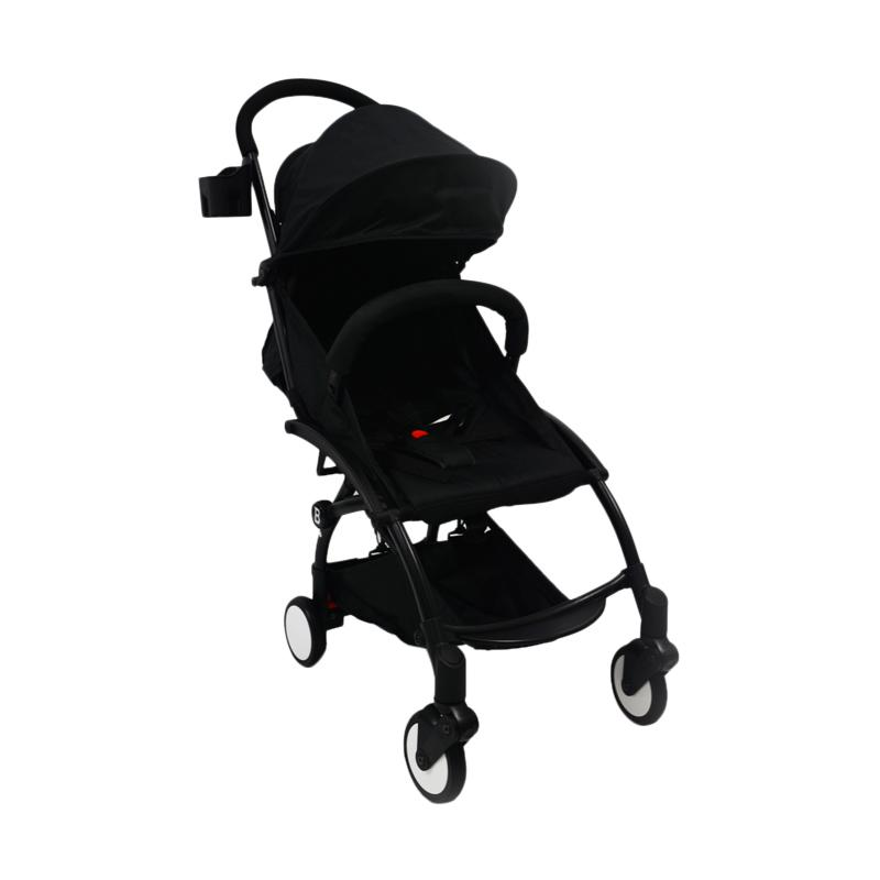 Chris & Olins Clever Pushchair Stroller Bayi - Black