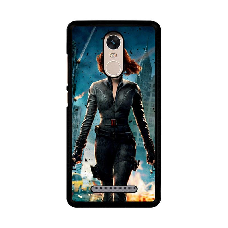 Flazzstore Black Widow Avengers Z1576 Custom Casing for Xiaomi Redmi Note 3 or Note 3 Pro