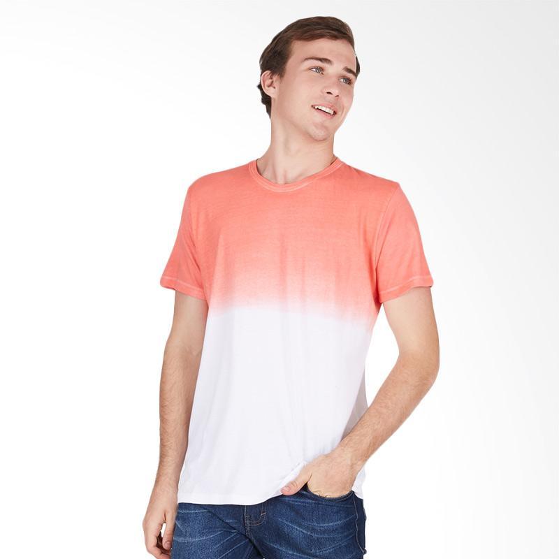 Tendencies Dip Dye Tshirt Atasan Pria - Red White