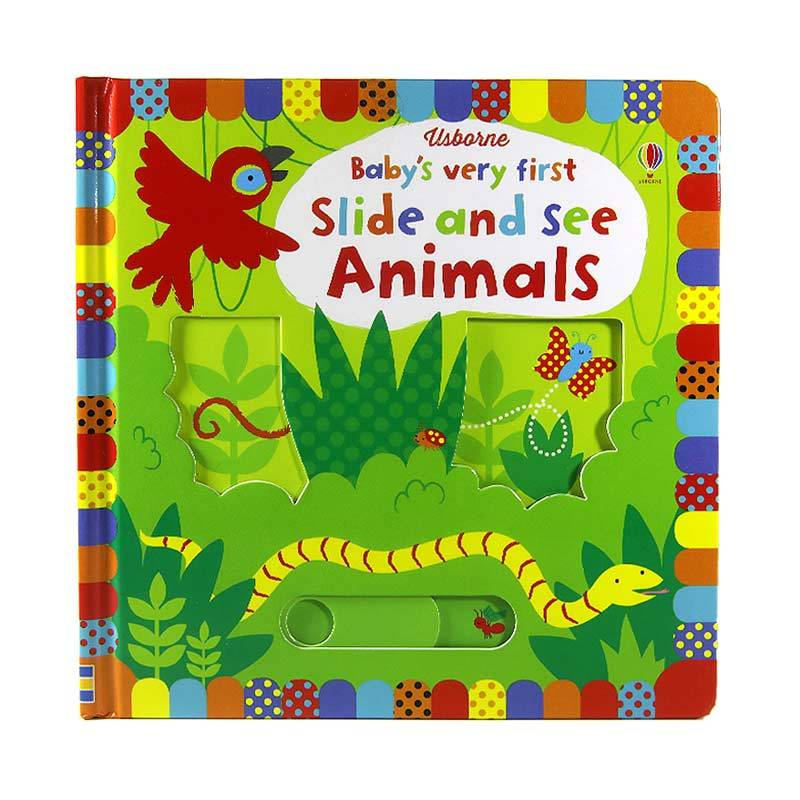 Usborne Books Baby's Very First Slide and See Animals Buku Edukasi Anak