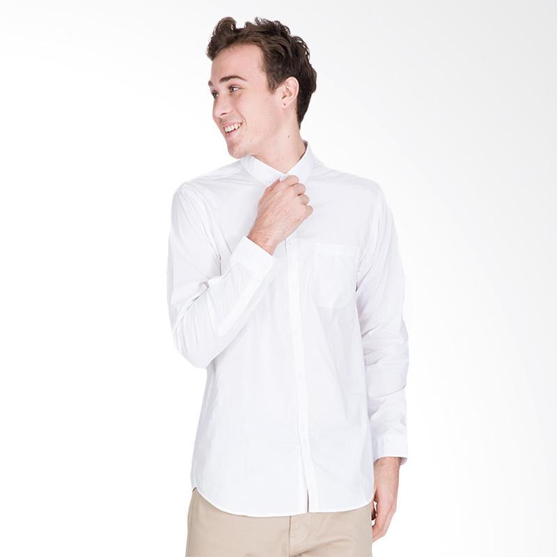 Tendencies Dignitate Shirt Kemeja Lengan Panjang Pria - White
