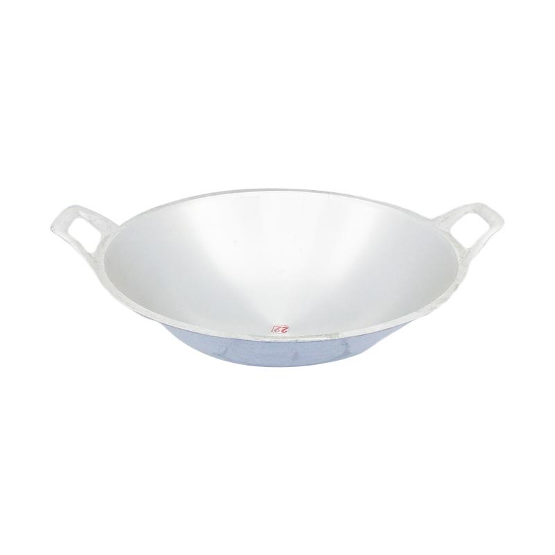 harga Kiwi Aluminium Kuali Wajan Penggorengan - Perak [Diameter 50 cm] Blibli.com