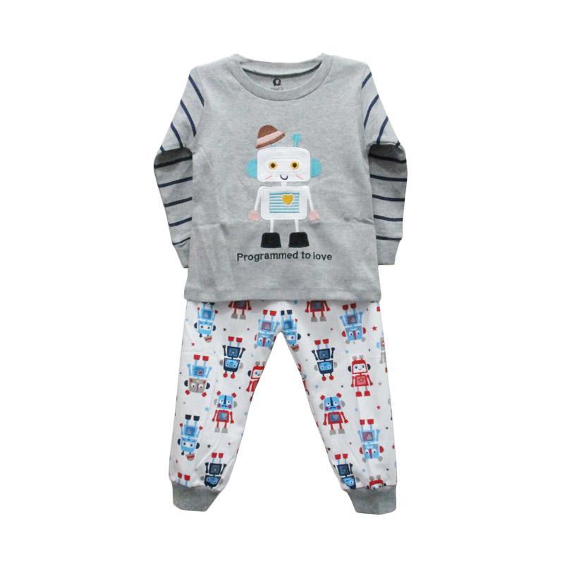 harga Gracie Motif Robot 03 Setelan Baju Tidur Bayi Laki-Laki - Grey Blibli.com