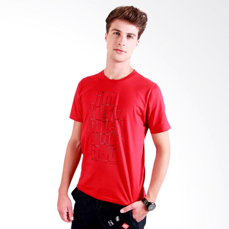 180 Degrees I'm Lost Without You T-Shirt Pria - Merah