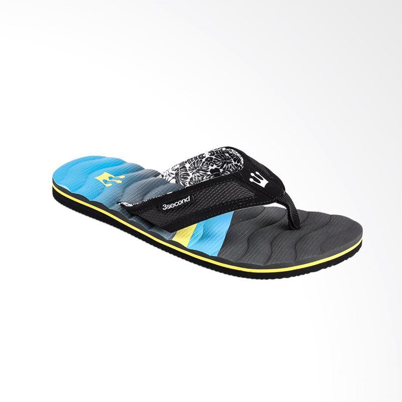 3SECOND 0701 Men Slippers - Black
