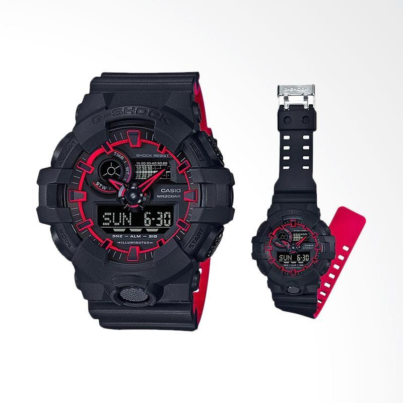 Jual CASIO G-Shock Special Color Model Illuminator Digital Dial Resin Strap Jam  Tangan Pria - Black  GA-700SE-1A4DR  Online - Harga   Kualitas Terjamin ... 99d3da8d4a