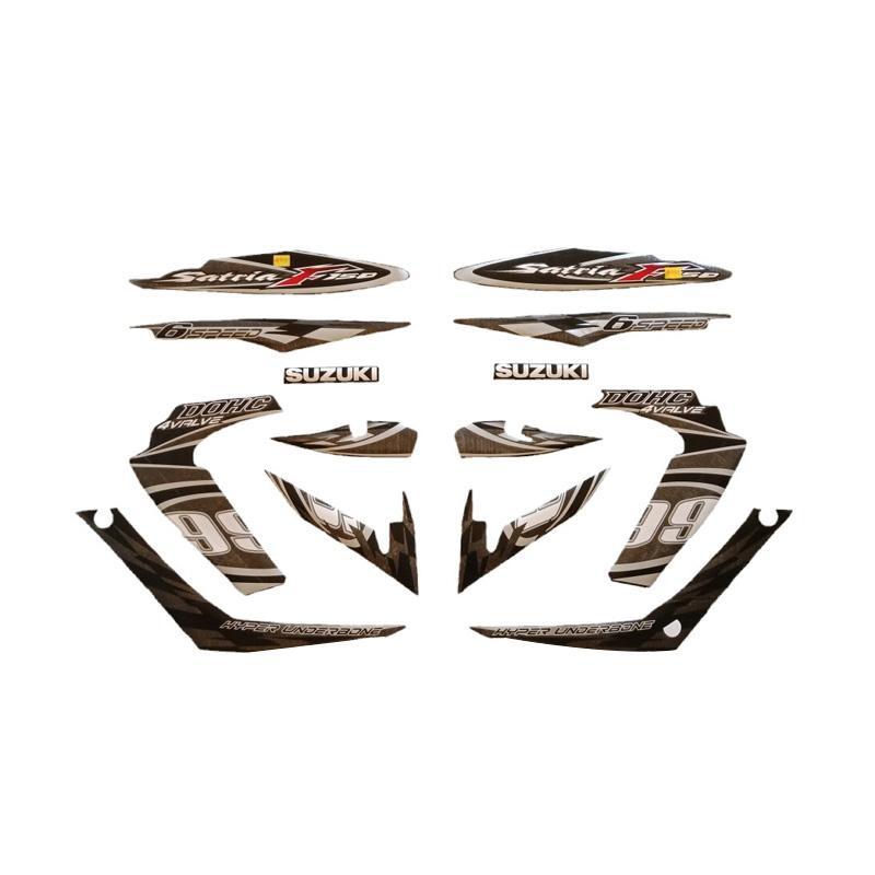 harga Idola Striping Aksesoris Body Motor for Satria FU 2012 - Hitam Silver Blibli.com