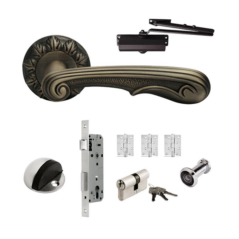 harga Dekkson LHR 10693 CF Antik Set Handle Pintu [Mortise/ Engsel/ Door Closer] Blibli.com