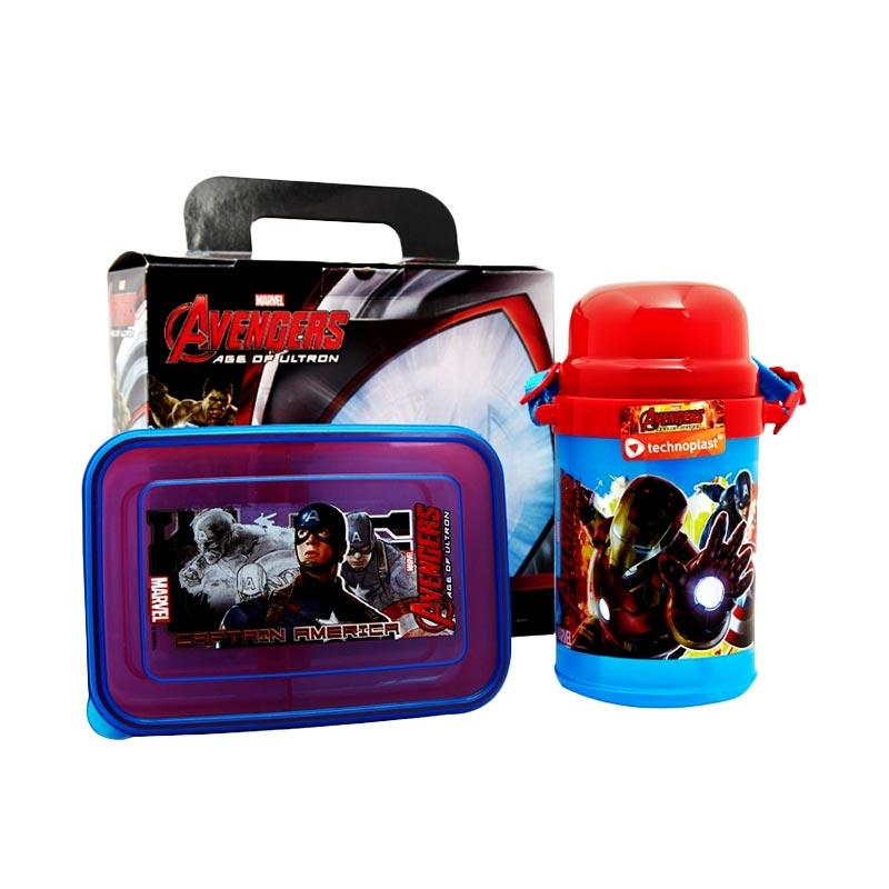 Technoplast Avengers Value Pack Cl018S107Sw105Avmv Set Perlatan Makan