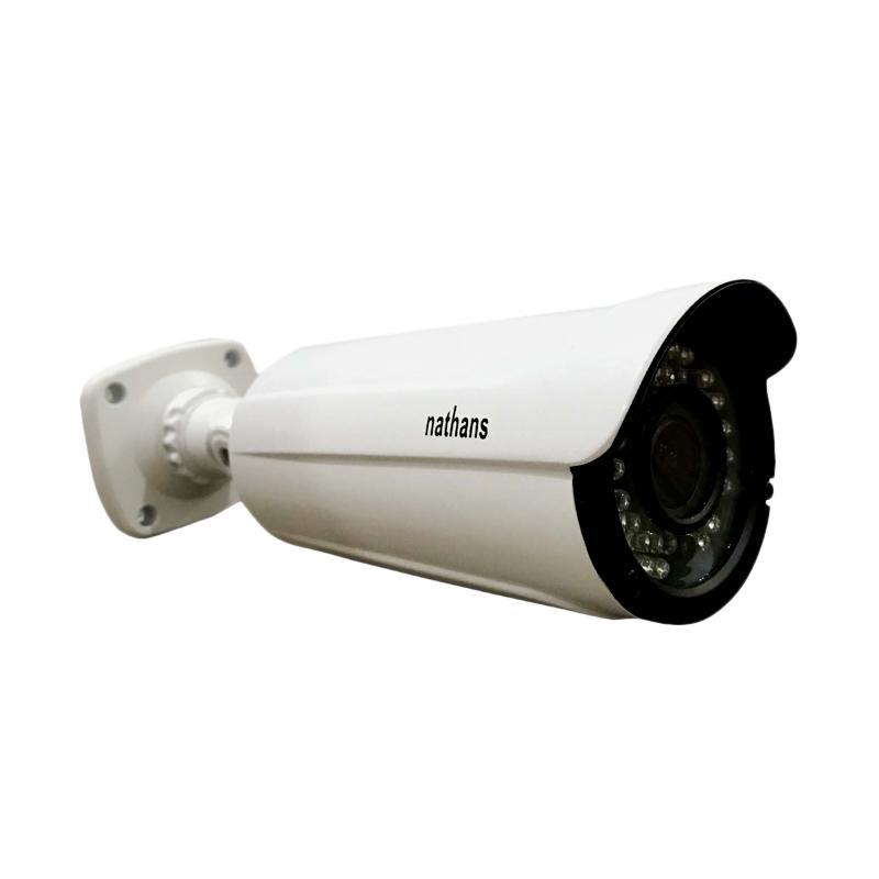 harga Nathans New Varifocal Super AHD Outdoor Camera CCTV - Putih [4.0 MP] Blibli.com