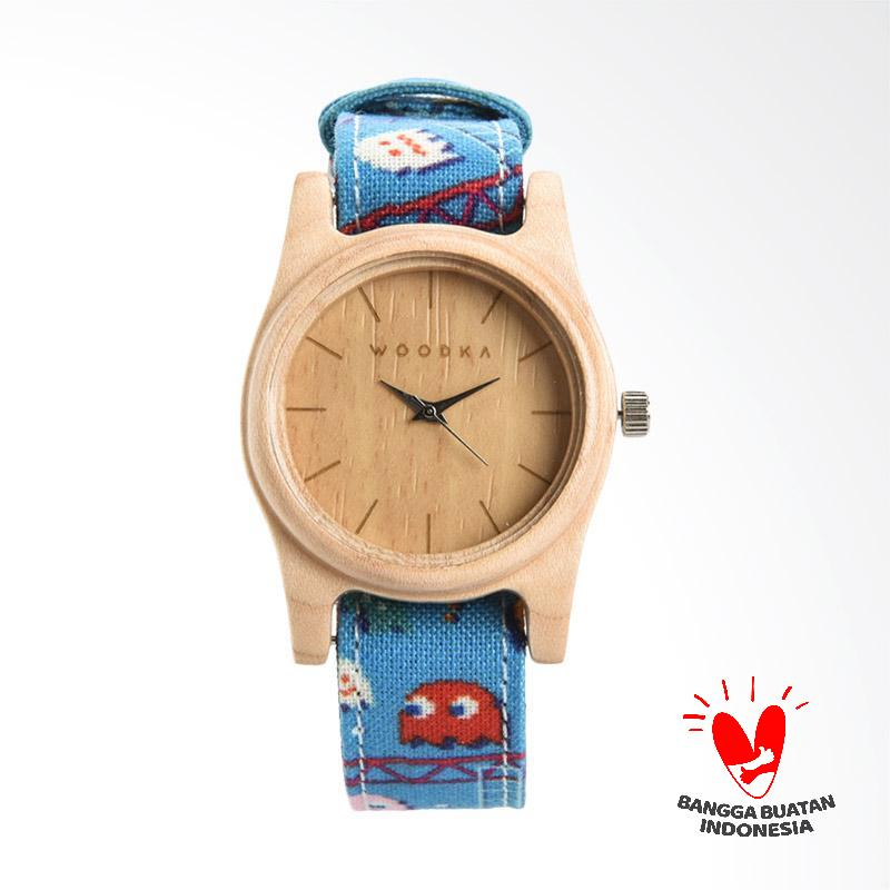 WOODKA MINI Loca Maple LCArcade 2 Jam Tangan Unisex Blue