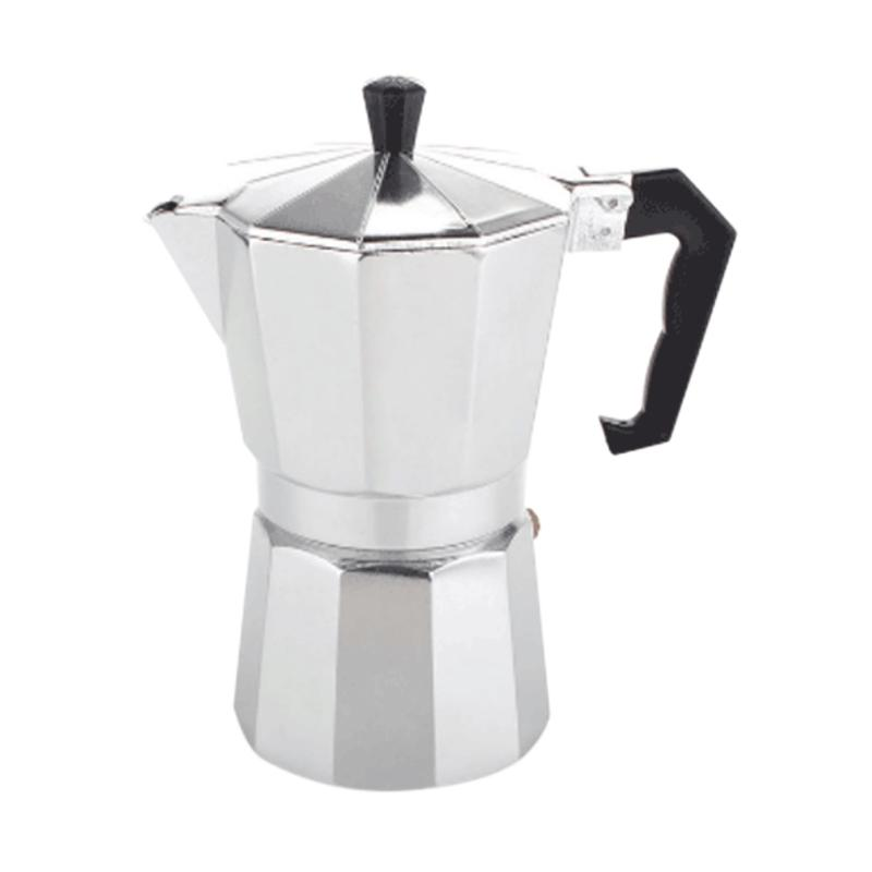 harga Coffee Gear MokaPot Coffee Brewer - Silver [6 Cups] Blibli.com