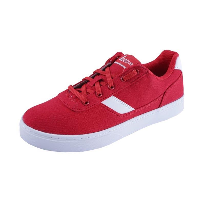 harga League Austin M Sepatu Sneaker Pria - Red White Blibli.com