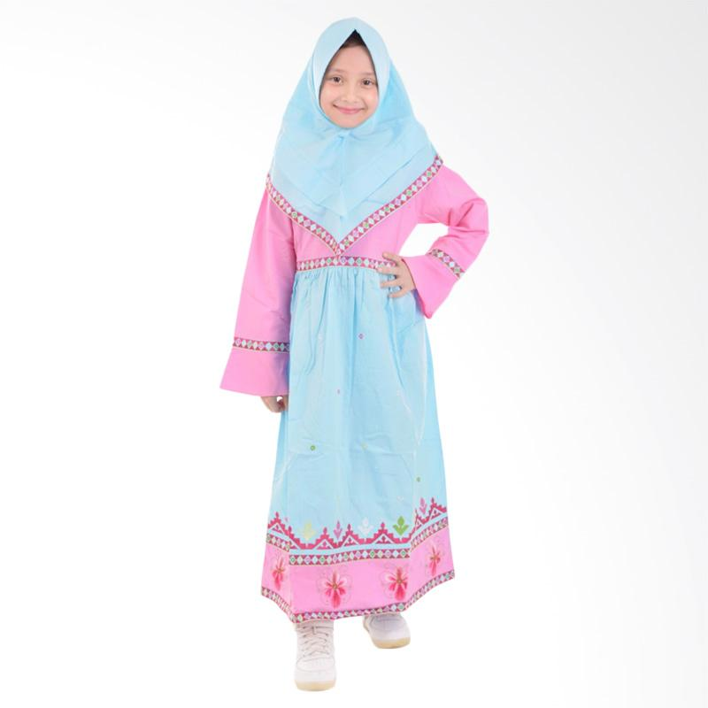 Jesca and Paul Isabel 223 Gamis Baju Muslim Anak Blue