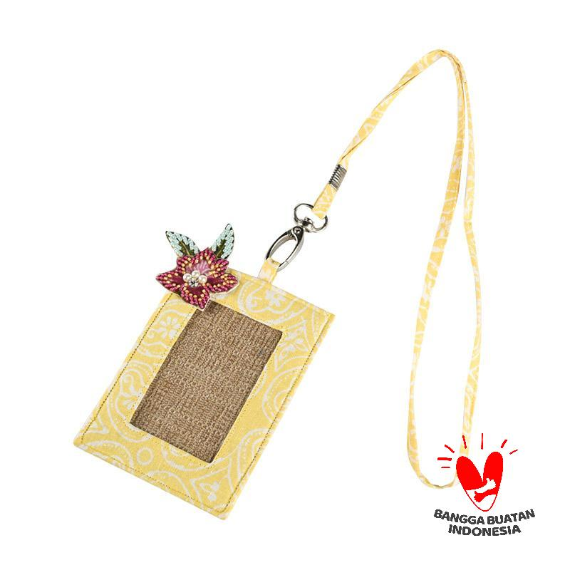 harga Origo Chain With Batik ID Card Holder - Kuning Blibli.com