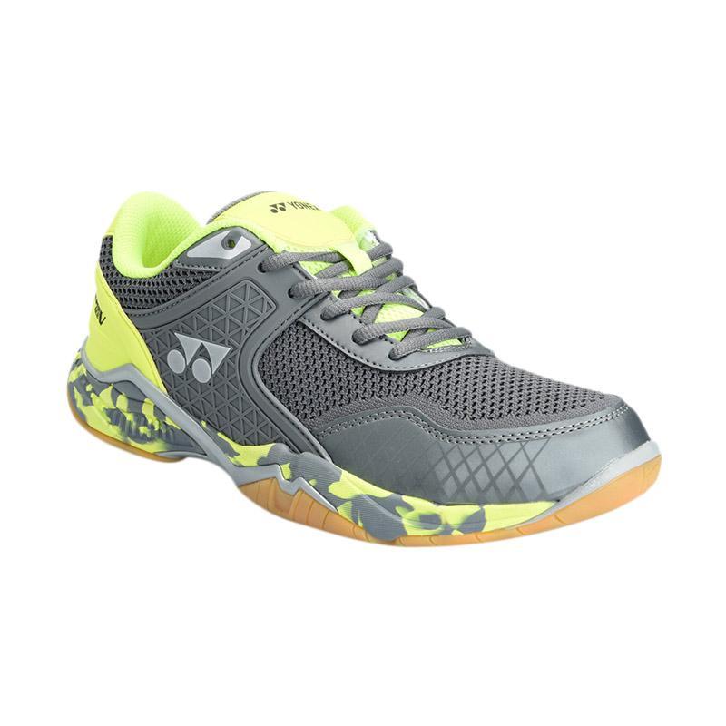 Harga Dan Keunggulan YONEX Badminton Shoes Super Ace V Sepatu Badminton Pria  - Grey Lime 3c03e56d0e