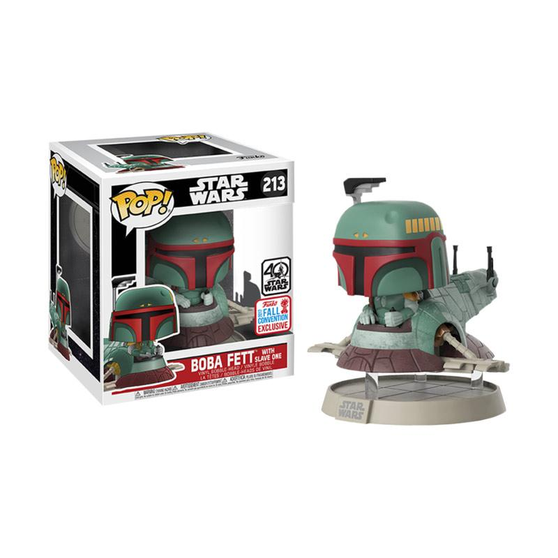 Funko POP 213 Star Wars Boba Fett with Slave One NYCC Exclusive