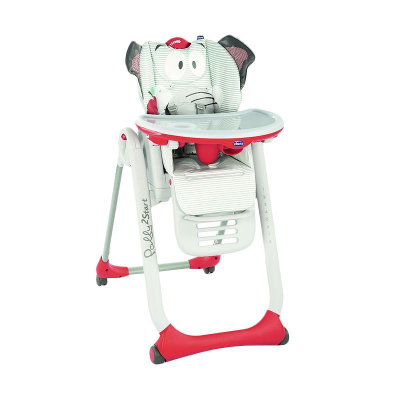 Chicco Polly 2 Start Highchair Baby Elephant 4 Wheels Kursi Makan Bayi