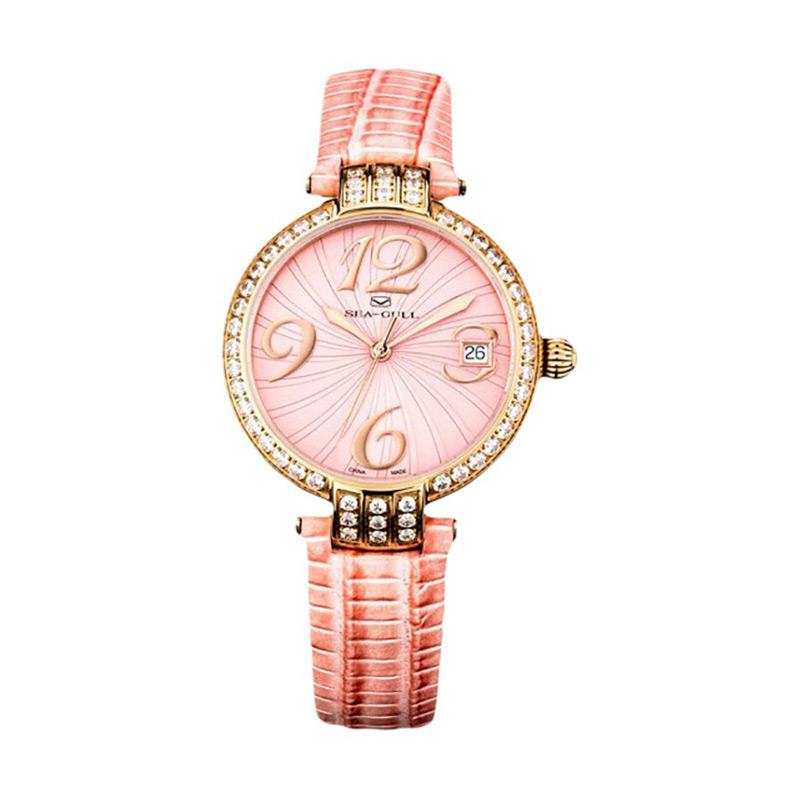 Seagull 719.753L-PK Diamond Automatic Mechanical Jam Tangan Wanita - Light  Pink 11385c585d