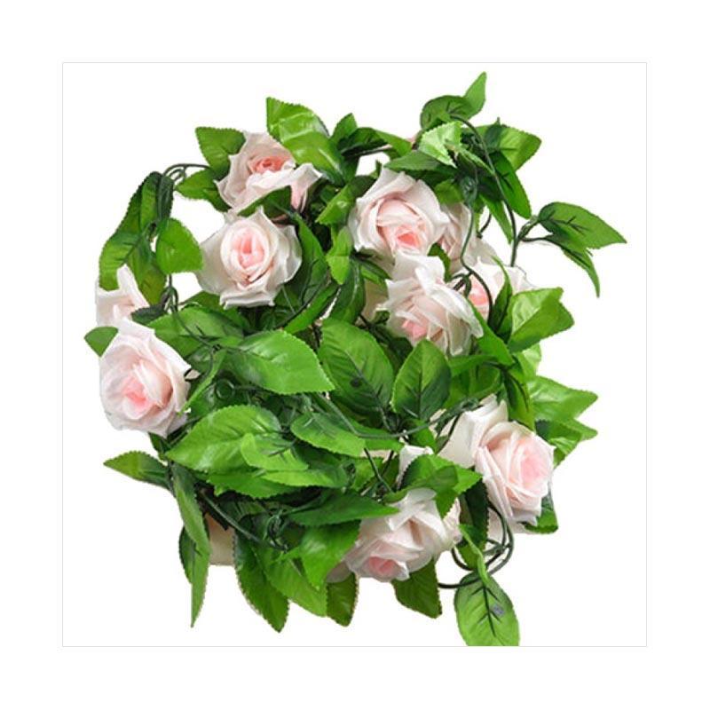 1pc Artificial Fake Silk Rose Flower Ivy Vine Hanging Garland Home floral Decor