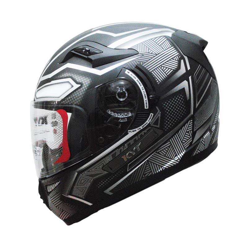 KYT K2 Rider Black Panther #1 Helm Full Face
