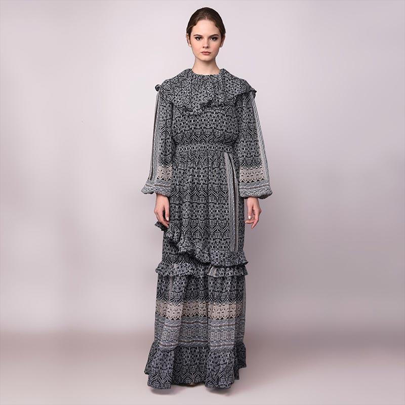 Barli Asmara Ziya Dress Wanita Black