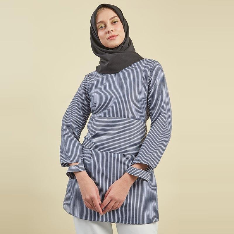 Jual Hijabenka Mawiyah Jules Tunik Muslim Wanita Navy Terbaru Harga Promo November 2019 Blibli Com