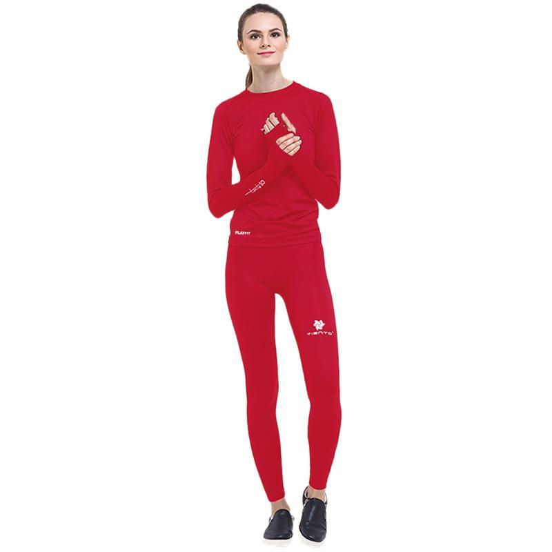 Jual Tiento Setelan Baselayer Manset Thumbhole Celana Leging Legging Pakaian Olahraga Wanita Online September 2020 Blibli Com