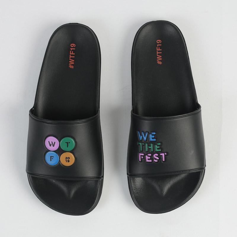 Monstore Logo Sandal unisex Black