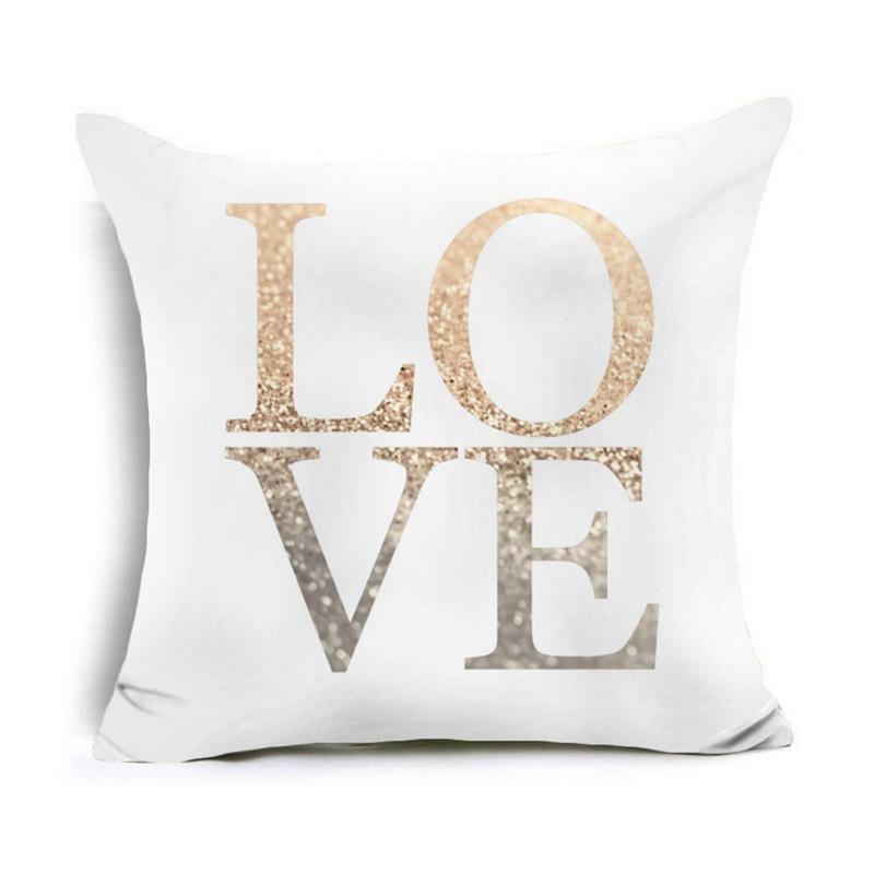 Flower Print Throw Pillow Case Sofa Cushion Cover Home Car Office Decor Y