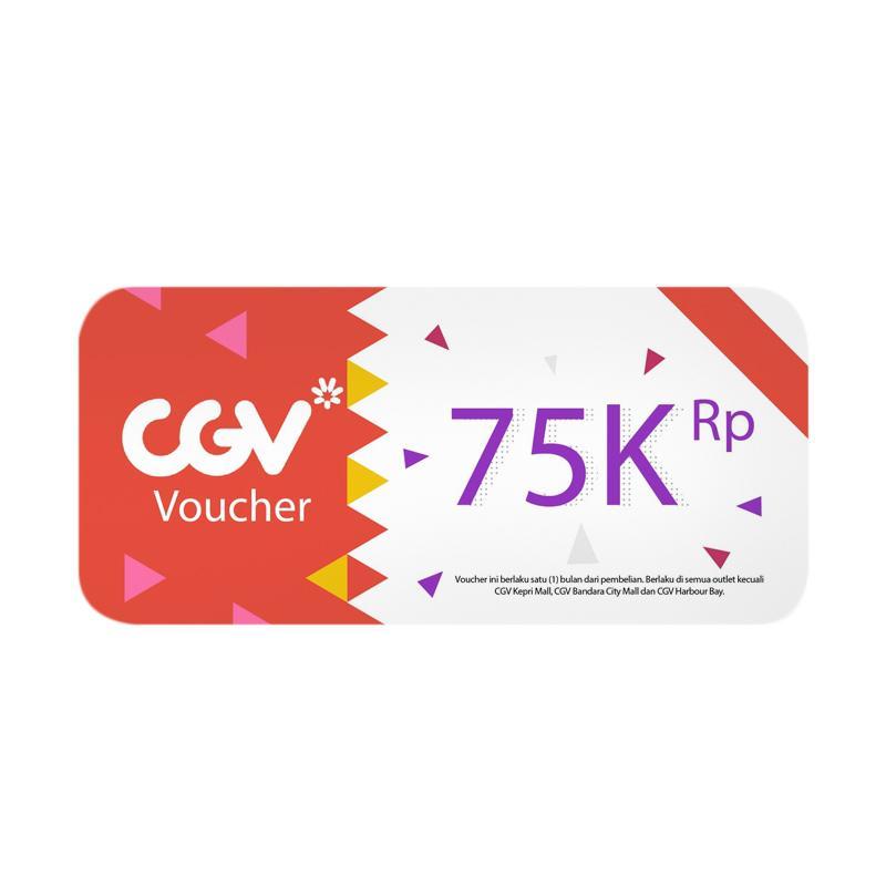 Voucher Cinema CGV All day 2D value Rp 75000