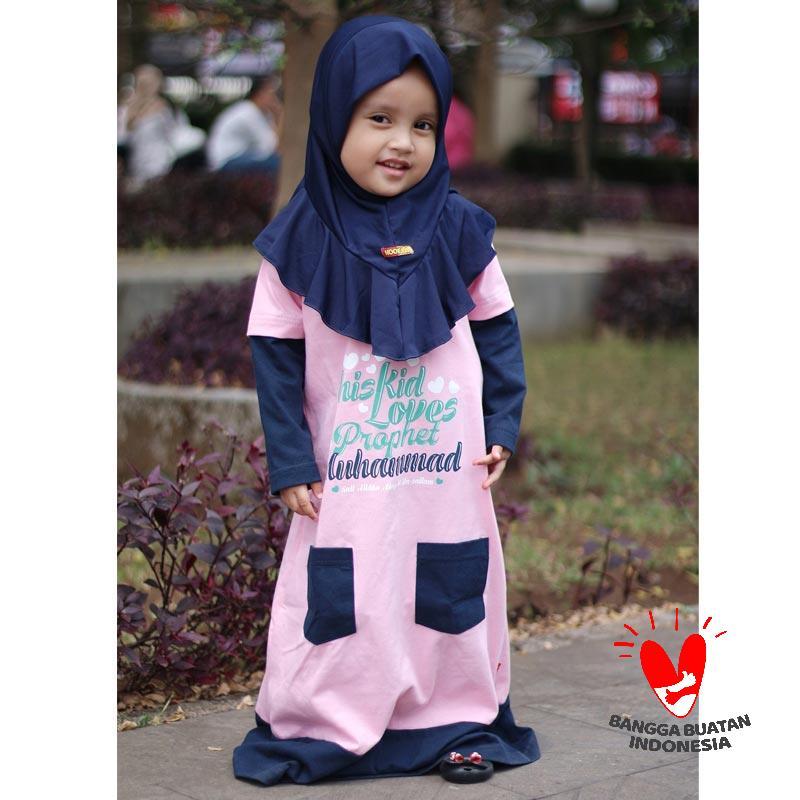 Jual Hoofla Kids Gkp05hma04 Pocket Gamis Kaos Anak Online Maret 2021 Blibli