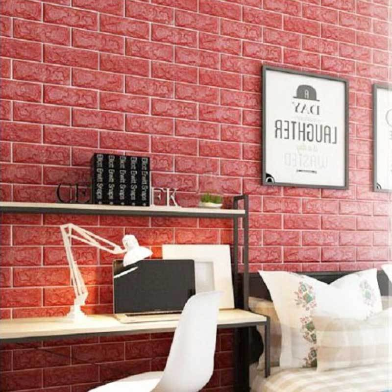 Abadi 3D Brickfoam Motif Bata Wallpaper Sticker