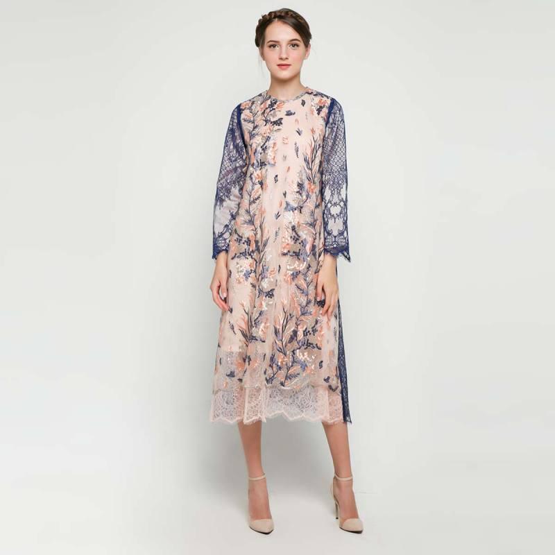 Kalla Studio BLIKS03 Celena Dress Wanita Peach